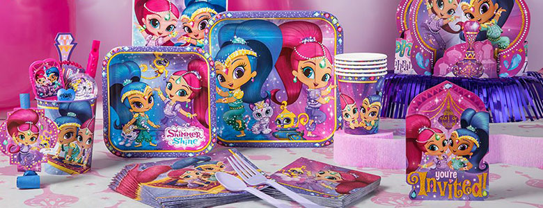 Shimmer Shine Party Supplies