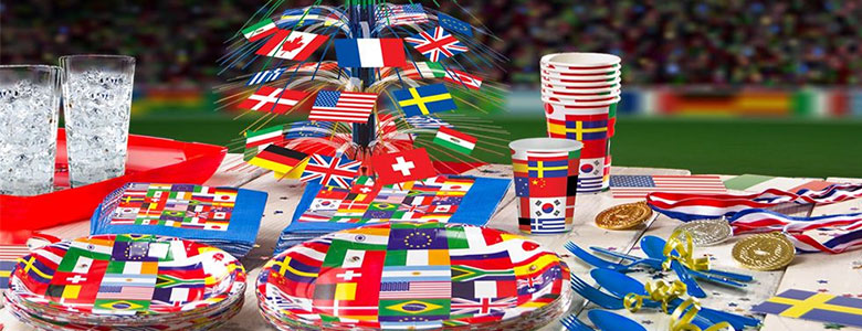 International flag party supplies woodies party for International party decor