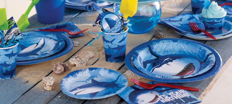 Shark Splash Party Supplies Sharks Party Party Delights