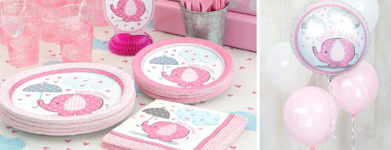 Umbrellaphants Pink Party Supplies