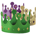 Mardi Gras Party Hat Crowns - Card
