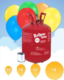 Helium Canister with 30 Balloons & Ribbon