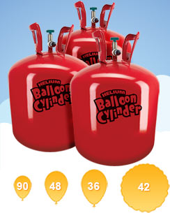 Helium Canisters Saver Kit (For 90 Balloons, 3 x Cylinders) - £16.25 Each