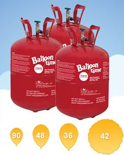 Helium Canister Saver Kit for 90 Balloons (3 Cylinders)