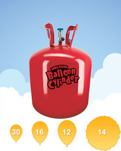 Helium Gas Canister - (For 30 Balloons)