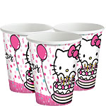 Hello Kitty Cups - 260ml Paper Party Cups