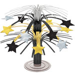 Hollywood Black, Silver & Gold Star Mini Cascade Table Centrepiece - 22cm