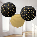 Hollywood Lanterns - 24cm Round Paper Lanterns