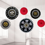 Hollywood Paper Fan Decorations - 40cm