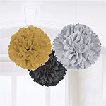 Hollywood Pom Poms - 40cm Fluffy Decorations