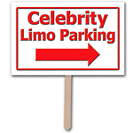 Celebrity Limo Parking Sign
