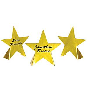 Hollywood Star Attraction Foil Star Place Cards