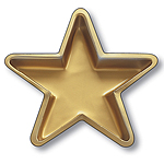 Plastic Gold Star Tray - 28cm