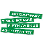 NYC Street Sign Cutouts
