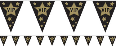 Hollywood VIP Flag Plastic Bunting - 3.7m