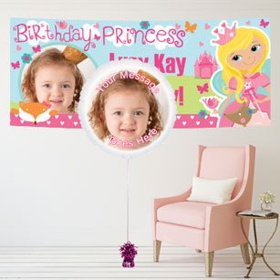 Personalised banners, cards, invitations and confetti