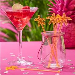 Hot Summer Palm Tree Drink Stirrers - 18cm