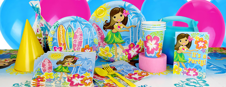 hula party decorations uk