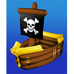 Inflatable Pirate Ship Drinks Cooler - 1.04m
