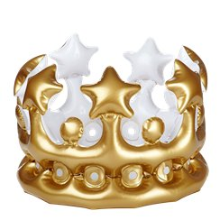 Kid's Inflatable Gold Crown - 30cm