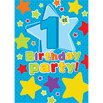 1st Birthday Invitation Cards Stars - Medium