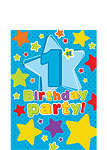 1st Birthday Invitation Cards Stars - Small