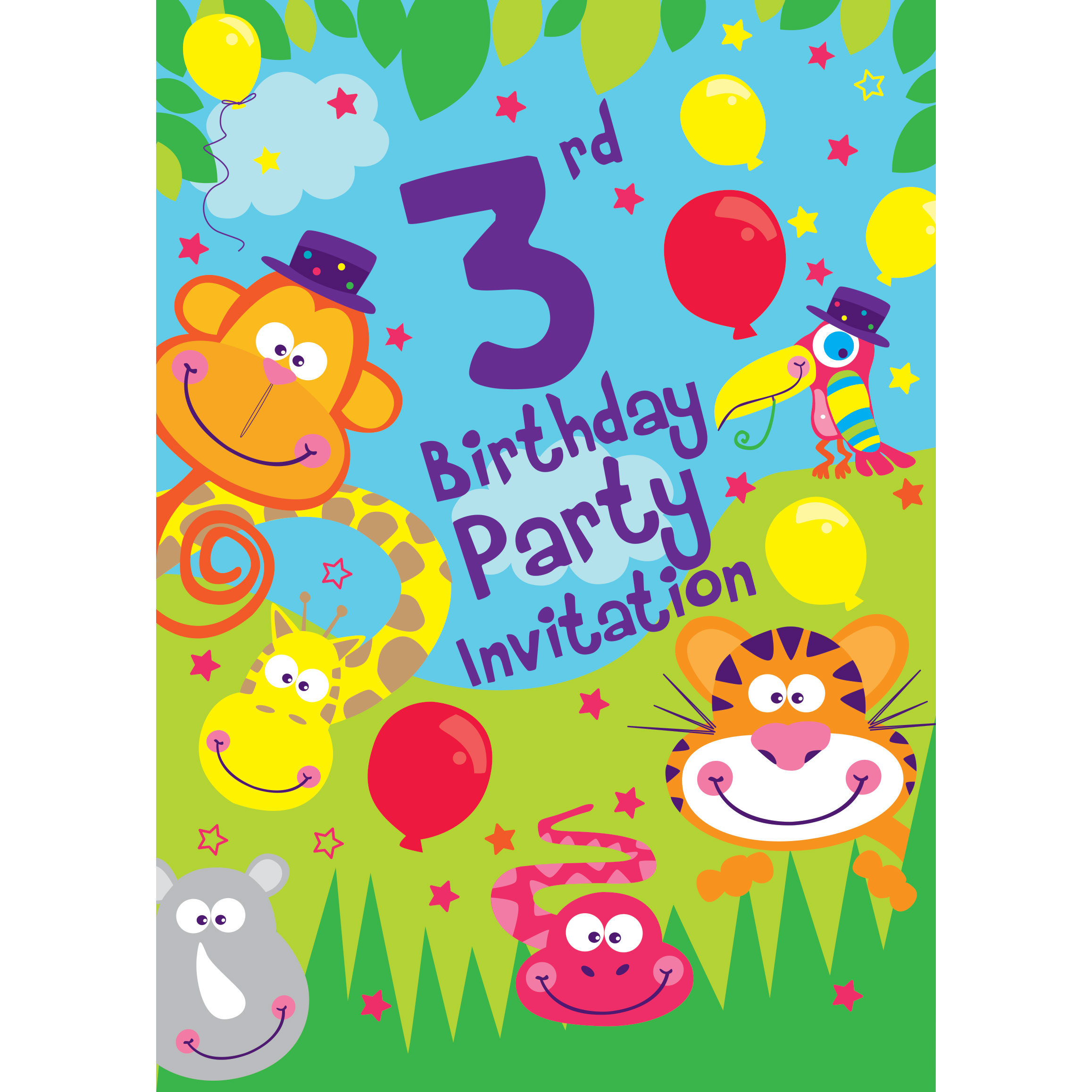 Jungle Party Invitations | Party Delights