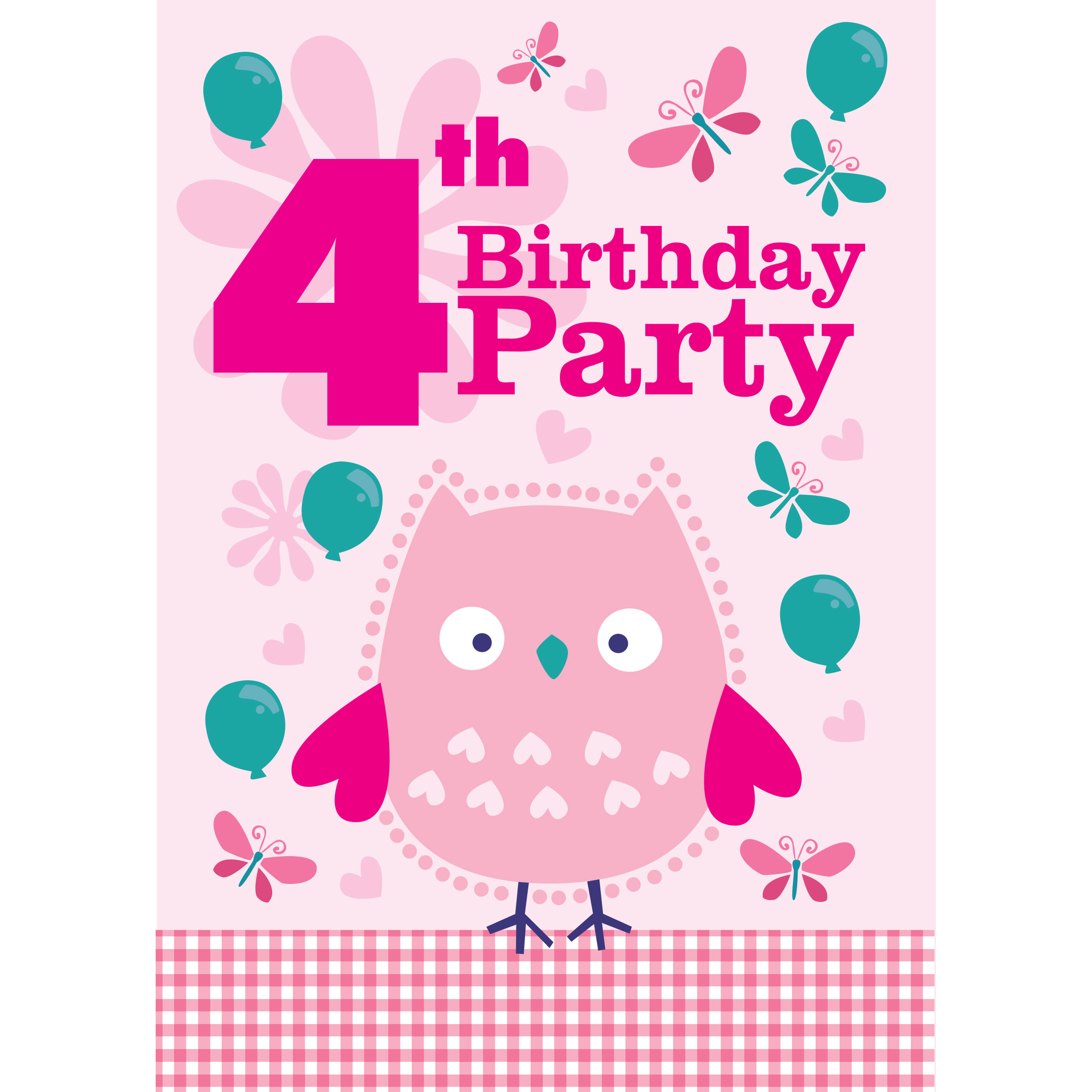 4th birthday party supplies party delights - Themes for a th birthday party ...
