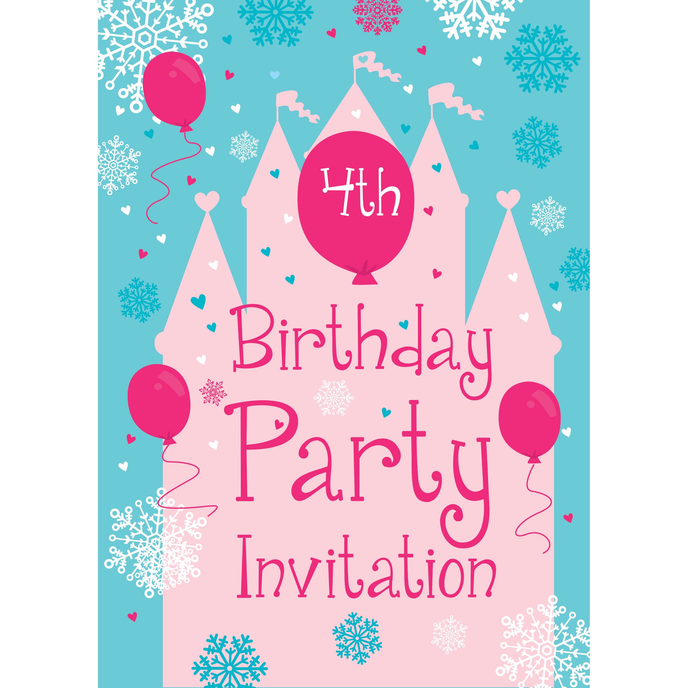 4th birthday party invitation - Fieldstation.co