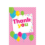 Thank you cards - Pink Spot - Small