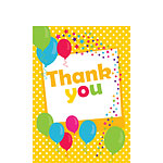 Thank you cards - Yellow Spot - Small