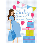 Baby Shower Invitation cards Blue Party - Medium