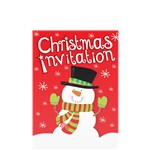 Christmas Snowman Invitation Cards - Small