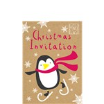 Christmas Penguin Invitation Cards - Small