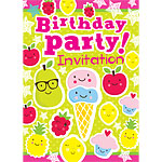 Birthday Fruit Ice Cream Invites - Medium