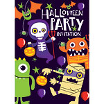 Halloween Party Invitations - Medium