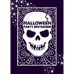 Halloween Skull Party Invitations - Medium