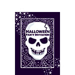 Halloween Skull Party Invitations - Small