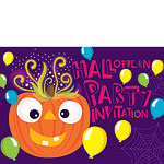 Halloween Pumpkin Party Invitations - Medium