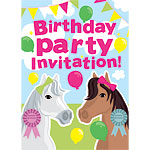 Horses Invitation Cards - Medium