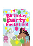Horses Invitation Cards - Small