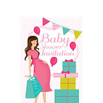Baby Shower Invitation cards Pink Party - Small