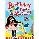 Pirate & Parrot Invitation Cards - Medium