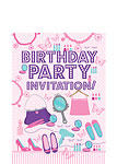 Sleep Over Invitation Cards  - Small