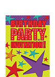 Stars Birthday Invitation Cards - Small