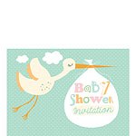 Baby Shower Invitation cards Stork - Small