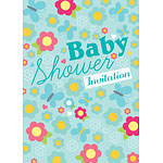 Baby Shower Invitation cards Summer Meadow - Medium