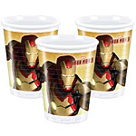 Iron Man Cups - 180ml Plastic Party Cups