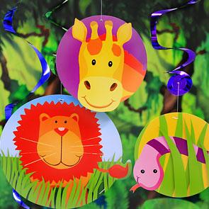 Jungle Animal Decorations