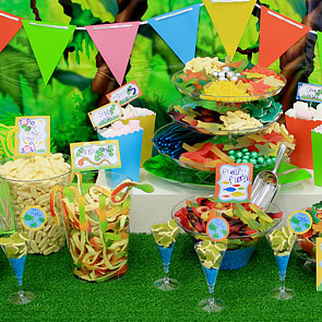 jungle candy buffet decorating ideas woodies party